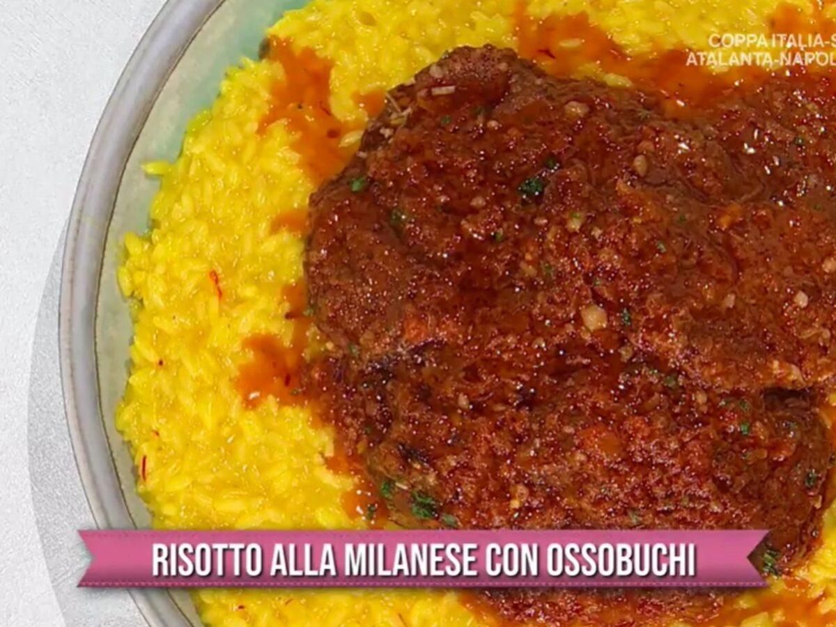 Ricetta Ossobuco Benedetta Rossi.E Sempre Mezzogiorno Risotto Alla Milanese Con Ossobuchi Di Sergio Barzetti Ricettefacili Info